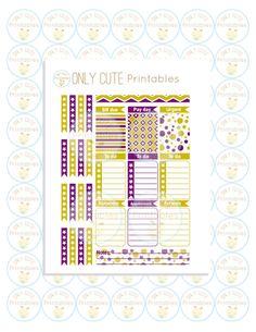 Erin Condren Printable Planner Stickers September Monthly Kit DIY Vertical Layout Instant Download PDF