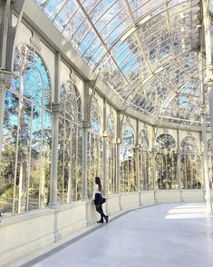 Lights game at Crystal palace ~ Buen Retiro Park, Madrid, Spain Phot Baroque Architecture, Beautiful Architecture, Architecture Design, Places To Travel, Places To Go, Foto Madrid, Travel Abroad, Beautiful Places, Scenery
