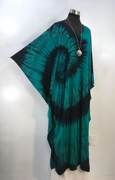 Caftan green tie dye plus size bamboo blend caftan, kaftan. by qualicumclothworks on Etsy Green Tie, Caftans, Green Fabric, Bamboo, Tie Dye, Plus Size, Colours, Stuff To Buy, Etsy