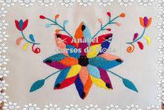 Resultado de imagen para BORDADO MEXICANO Embroidery Needles, Crewel Embroidery, Cross Stitch Embroidery, Embroidery Patterns, Machine Embroidery, Flower Applique, Embroidered Flowers, Mexican Pattern, Mexican Embroidery