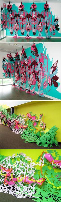 Liz Miller - paper installations