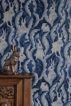 Hares in hiding tapet från Långelid / von Brömssen® - Fraktfritt online