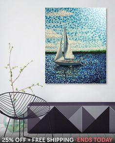 25% off & Free shipping on this artpiece at my Curioos webstore (follow link in my details @alanhogano ) - «Sailing With Olivia», Numbered Edition Aluminum Print via @Curioos . . #art #instaart #artist #homedecor #homeinterior #homeart #artistsofinstagram #finland #hoganfinland #dots #curioos #konst #taide #konstnär #artcollection #artist_sharing #artnerd2018 #artsy #artcollective #artstudio #artlife #worldofartists #impressionism #sailing #boats #yacht #supportart
