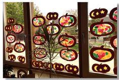 Herfsttransparantjes kleuters Waldorf Kindergarten, Samhain, Fall Crafts, Paper Cutting, Advent Calendar, Paper Crafts, Autumn, Holiday Decor, Children