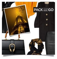 """Pack and Go: Winter Getaway Paris"" by slavulienka ❤ liked on Polyvore featuring Roger Vivier, Burberry, Gucci, TIBI, Jitrois, Hermès, travel, paris, Elegant and Packandgo"