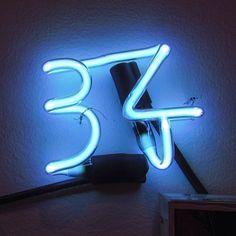 #34 #type #typography #neon #blueneon #numbers