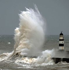 large wave lighthouse - Google Search