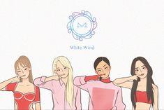 Fanart Manga, Kpop Fanart, Calligraphy Quotes Doodles, Kpop Drawings, Aesthetic Drawing, Rainbow Bridge, Kawaii Cute, Kpop Girl Groups, K Idols
