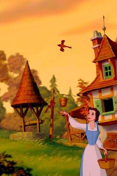 Belle, she gets the books and birds. Much better combo then other princesses