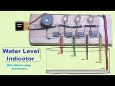 Water Level indicator with alaram Electronics Projects, Simple Electronics, Electronic Circuit Projects, Hobby Electronics, Electronics Storage, Electrical Projects, Electronic Gifts, Electronics Components, Physics Projects