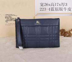 Burberry Clutch Bag 223 Blue 26cm