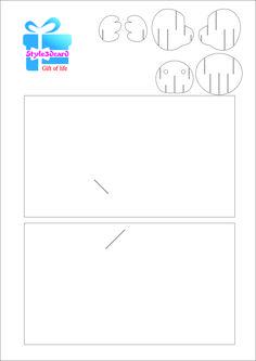 Fall Bear Pop Up Card greeting card/Pattern kirigami 1 Geometric Origami, Origami And Kirigami, Kirigami Patterns, Card Patterns, 3d Puzzel, Sliceform, Pop Up Card Templates, Tarjetas Pop Up, Pop Up Art