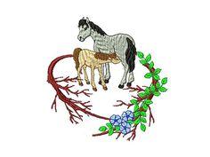1 Monogrammbuchstabe Pferde mit Buchstabe L Der BUCHSTABE wird erst am Schluss gestickt und KANN WEGGELASSEN werden. Artikelbeschreibung: