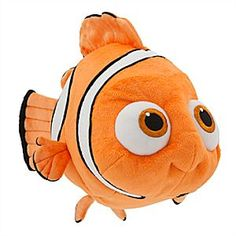 Nemo Plush - Finding Dory - Medium - 15'' | Disney Store Nemo goes in search of his forgetful friend in Disney•Pixar <i>Finding Dory</i>, but with this detailed and super soft plush, the lovable clown fish will also find plenty of cuddles.