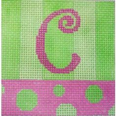 Lime Pink Letter Square