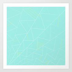 #society6 #design #home #decor #artprint #art #print #pattern #triangle #decor #mint #white #nordic #scandinavian