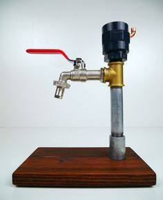 Alcohol Dispenser - Industrial Two tone - Steam Vintage Creations