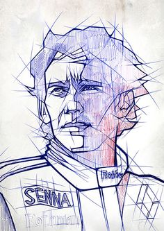 Ayrton Senna These unique portraits are drawn with just ballpoint pens. They are the works of German illustrator Johannes Siemensmeyer,. Pen Illustration, Portrait Illustration, Graphic Design Illustration, Marshmello Wallpapers, Ballpoint Pen Art, Biro Art, Sketch Inspiration, Design Inspiration, Sports Art