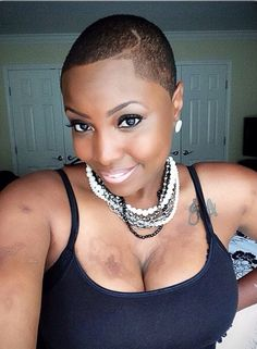 25 Luxury Low Haircuts for Black Females Pics Natural Hair Cuts, Natural Hair Styles, Big Chop Styles, Low Haircuts, Bald Hair, My Hairstyle, Fade Haircut, Belleza Natural, Hair Journey
