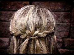 braided half up wedding hair