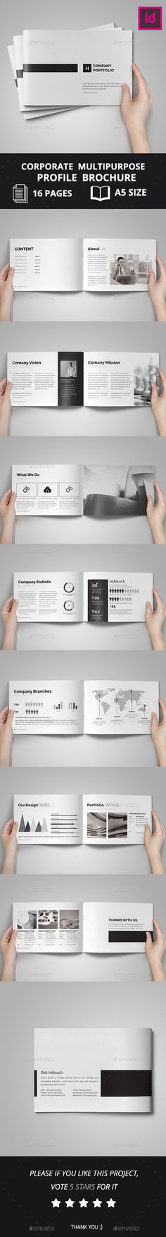 Corporate Multipurpose Profile Brochure - Corporate Brochures
