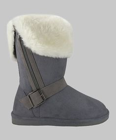Look at this #zulilyfind! Gray Faux Shearling  Boot #zulilyfinds