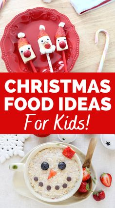 Break out Christmas food for kids and watch how excited they get! You'll love these cute holiday recipes for kids like snowman oatmeal, reindeer pancakes, and more. Definitely try these Christmas food art ideas.