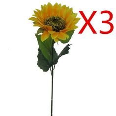 Lily Garden 24' Silk Sunflowers Artificial Flowers Decor (3) >>> Check out the image by visiting the link.