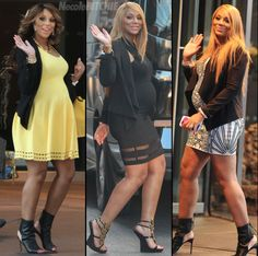 Tamar Braxtons Maternity Style ...yes but I am into the wedged type sandal