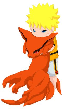 Naruto and Kurama. SO CUTE!