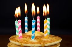 Let your child make the menu on their birthday and even put a candle on a stack of pancakes to start the celebration early