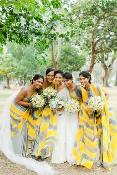 Norris Pavilion Inspiratio - Colorful Bridesmaid Dresses: http://www.stylemepretty.com/destination-weddings/2014/07/11/destination-sri-lankan-wedding-at-cinnamon-lakeside/ | Photography: http://www.katerobinsonphotography.com/