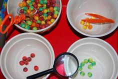 """""""Planet"""" Sorting and Transferring Tray Activity using swirled Trix® cereal 