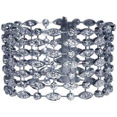 Cartier Diamond Gold Link Bracelet late 20th century