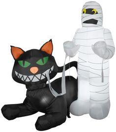 Animated Cat Eating Mummy   Christmas Light Express