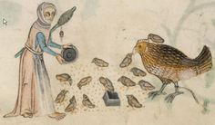 Detail from The Luttrell Psalter, British Library Add MS 42130 (medieval manuscript,1325-1340), f166v