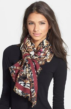 KENZO 'Flying Tigers' Wool Wrap available at #Nordstrom