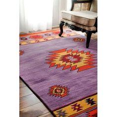 "World Menagerie Doetinchem Hand-Tufted Purple Area Rug Rug Size: 8'6"" x 11'6"""