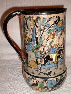 Tlaquepaque Pitcher Signed By Artist Tomas Lucano by Buddhagal, $195.00