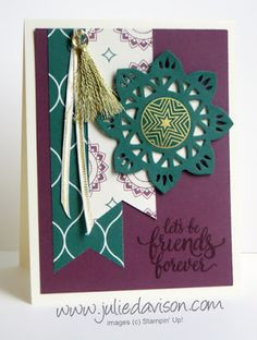 Stampin' Up! Eastern Palace Suite ~ Eastern Beauty Friends Forever Card ~ www.juliedavison.com