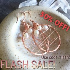 """Shop now for 50% off your entire order of Adrienne Adelle Designs!  All time low discount! It will be over in a flash!  Use code """"Flash50"""" at checkout.  adrienneadelle.com"""