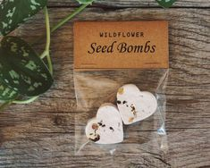 25 Wildflower Seed Bomb Packets (50 seed bombs total) Planting Instructions are located on the back of each packet.  Our seed bombs are