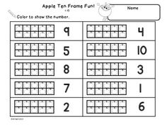 Worksheet Ten Frame Worksheets bingo frames and ten on pinterest this is a set of 6 frame worksheets students will practice identifying showing