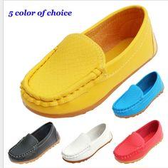 iDuoDuo Boy Girl Soft PU Leather Flat Leisure Shoes Fashion Stripes Loafers Toddler//Little Kid//Big Kid