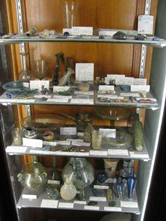 https://flic.kr/p/9i4zce | Delish assortment of glass objects |  The Petrie Museum has a large collection of Egyptian glass from the New Kingdom to the modern period...  Glass appears sporadically as a material before Dynasty 18 [1550-1292BC].  It is probable that the knowledge of glass making was introduced to Egypt from the Near East at about this time as it was known centuries earlier there.  Glass was a highly favoured luxury material in the New Kingdom [about 1550-1069 BC].  Glass ...
