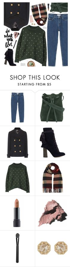 """""""do what you love"""" by valentino-lover ❤ liked on Polyvore featuring MANGO, Mansur Gavriel, Miu Miu, Chloé, Burberry, Bite, Bobbi Brown Cosmetics, Grace Lee Designs and Lalique"""