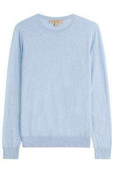Burberry Brit Burberry Brit Pullover aus Kaschmir und Baumwolle – Blau