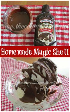 The Country Cook: Homemade Magic Shell {So easy and you can easily change up the flavor: mint chocolate, butterscotch, peanut butter!}