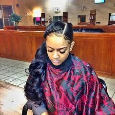 50 Pretty Sew in Hairstyles for Inspiration - Women Hairstyles Sew In Hairstyles, Easy Hairstyles For Medium Hair, My Hairstyle, Pretty Hairstyles, Weave Ponytail Hairstyles, Fashion Hairstyles, Wedding Hairstyles, Short Hair Styles Easy, Medium Hair Styles