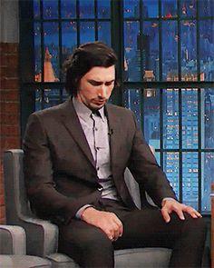 He looks thin :( Adam Driver (Late Night with Seth Meyers)